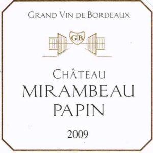 2009 Mirambeau Papin